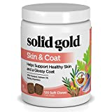 Solid Gold Dog Supplement for Skin & Coat; Grain Free Chews w.Salmon Oil, 120ct For Sale