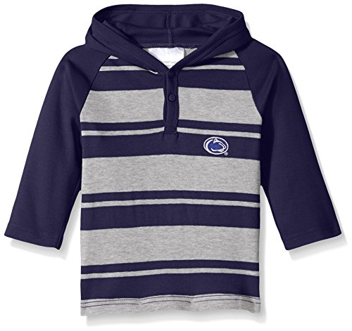 NCAA Penn State Nittany Lions Toddler Boys Rugby Long Sleeve Hooded Shirt, Size 3, Navy/Heather (Shirt Lions Rugby)