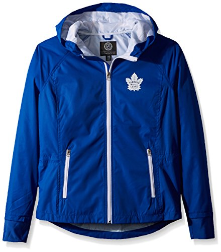 GIII For Her NHL Toronto Maple Leafs Women's Onside Kick Light Weight Full Zip Jacket, Small, ()