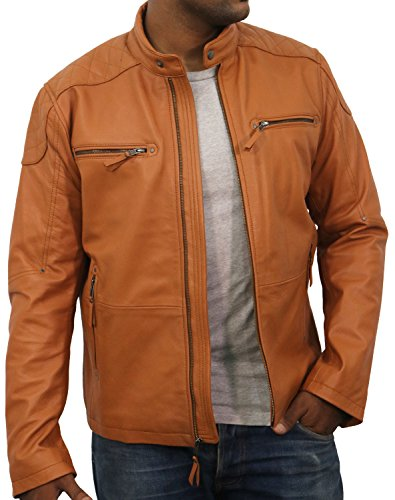 Tan Leather Jacket Mens - 8