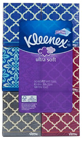 Kleenex Ultra Soft Tissues, 3-Ply, Pack of 6 Each 85 Count