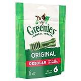 Cheap Greenies Original Regular Size Dental Dog Treats, 6 Oz. Pack (6 Treats)