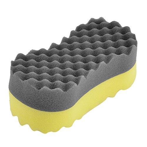 Forma DealMux Auto Preto Osso amarelo cera lustrando Polimento Sponge Pad Cleaner