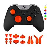 WPS Metal Alloy Bumper Trigger Button Set for XBOX One Elite Controller with Open Tools ( T6 T8 ) – Amber