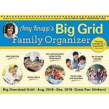 2019 Amy Knapp's Big Grid Wall Calendar: August 2018-December 2019