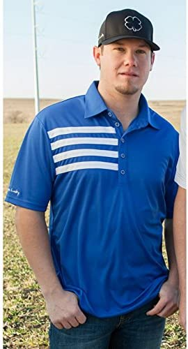 Black Clover Mens Rope Lucky Just For Luck Royal Polo S Blue