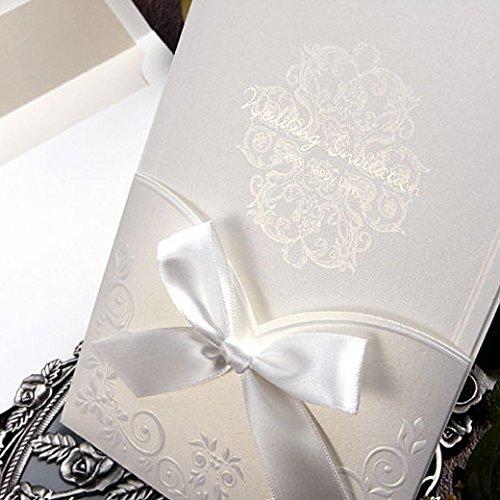Amazon.com: Satin Ribbon Wedding Pocket Invitations 50 Kits / GA1016:  Kitchen U0026 Dining