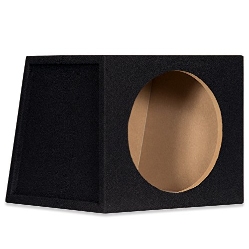 Cars 12 Sealed Box (Sycho Sound New Single Car Black Subwoofer Box Sealed Automotive Enclosure for 12-Inch Woofer 12S)