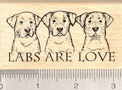 Labs are Love Rubber Stamp, Labrador Retriever Dog