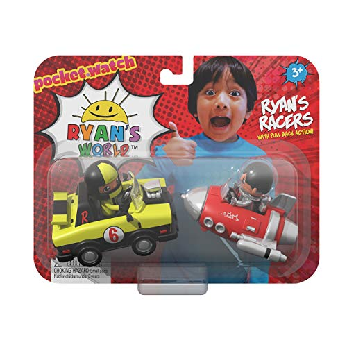 - Ryan's World Ryan's Racers Pocket Watch Pull Back Action Cars