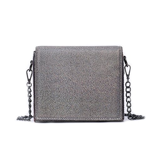 Grey Daypack Square Outdoor Shoulder Compras Moda Personality Bag Wild Bags Chain Package Crossbody Ms UaqOx7U
