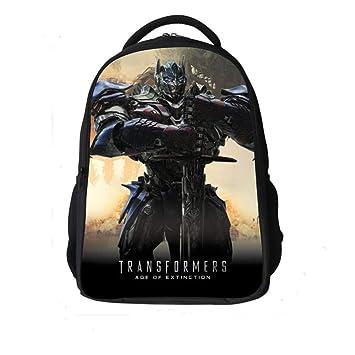 HLH Bolsos Escolares para niños Transformers 4 Grados 3-9 Mochilas para niños de Primaria y Secundaria Bolsos de Hombro Masculino,Azul,42X29X18Cm: ...