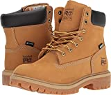 Timberland PRO Women's Direct Attach 6'' Steel Toe Waterproof Insulated Industrial and Construction Shoe, Wheat Nubuck Leather, 7 M US