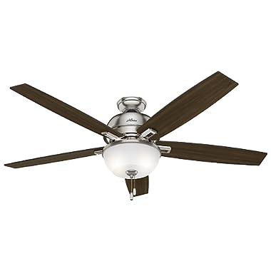Hunter Fan Company Hunter 54172 60  Donegan Ceiling Fan with Light, Brushed Nickel