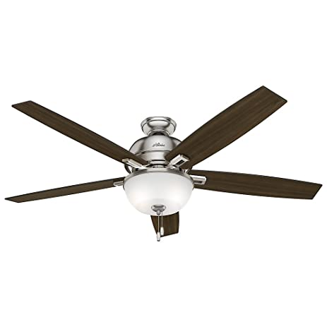 Hunter 54172 60 donegan ceiling fan with light brushed nickel hunter 54172 60quot donegan ceiling fan with light brushed nickel mozeypictures Choice Image