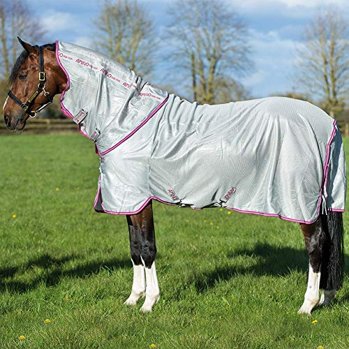 Horseware Protector - amiGO Bug Rug Fly Sheet 84 Silver/Purple/Mint