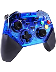 ANRIS Wireless Controller for Switch, Remote Pro Controller Gamepad for Switch Console and Windows PC, Built-in Turbo Function, Gyro Axis Function, Dual Motors Vibration 8579 (Blue)