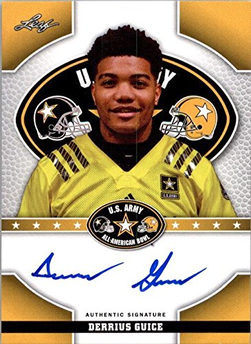 DERRIUS GUICE 2015 Leaf US Army All-American Autograph TOUR Rookie Auto LSU from Leaf