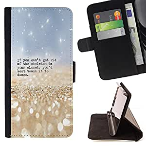 Jordan Colourful Shop - skeleton closet dance funny quote For Apple Iphone 6 PLUS 5.5 - < Leather Case Absorci????n cubierta de la caja de alto impacto > -