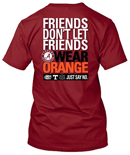 New World Graphics NCAA Friends Don't Let Friends Wear T Shirts - Up to 2X and 3X (Alabama Crimson Tide, Large)