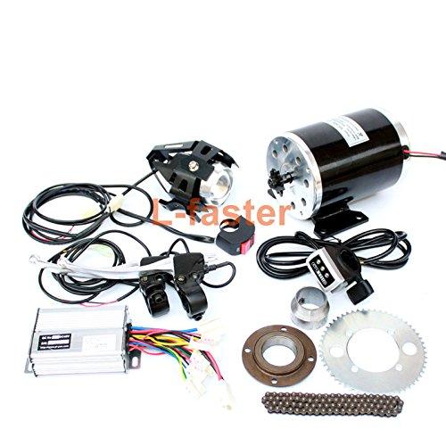 500ワット電動スクーターブラシ変換キットでヘッドライトdiy子電動スクーター電動ミニオートバイエンジンキット使用25 h B07C4S1TF1 24V500W thumb kit 24V500W thumb kit