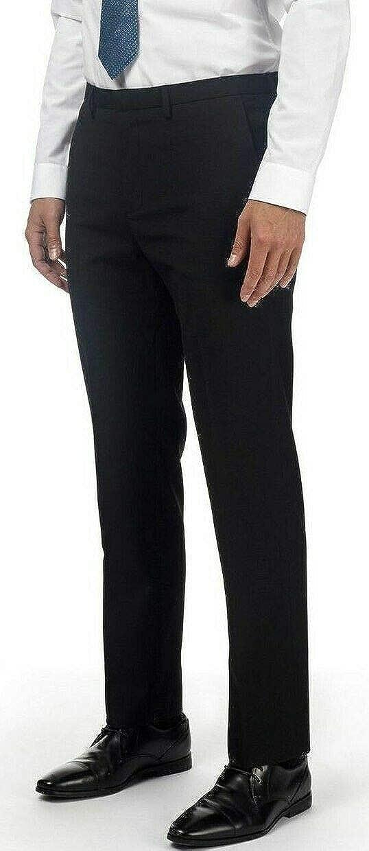 Boys Slim Leg School Trousers Adjustable Waist Black Charcoal Grey Ages 2 3 4 5 6 7 8 9 10 11 12 13 14 15 16