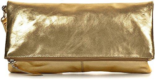 Effet Femme 5 porté Main Sac 2 Métallique 32 x x Clutch or 17 cm Cuir à CNTMP Pochette Soirée Sac Main 4YPfPU