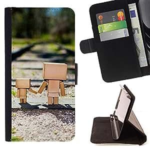 For Sony Xperia Z3 D6603 - Cute Box Family /Funda de piel cubierta de la carpeta Foilo con cierre magn???¡¯????tico/ - Super Marley Shop -