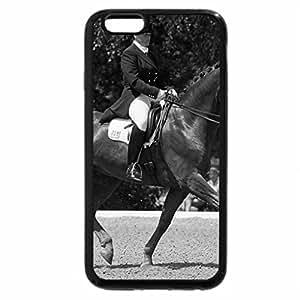 iPhone 6S Plus Case, iPhone 6 Plus Case (Black & White) - Dressage