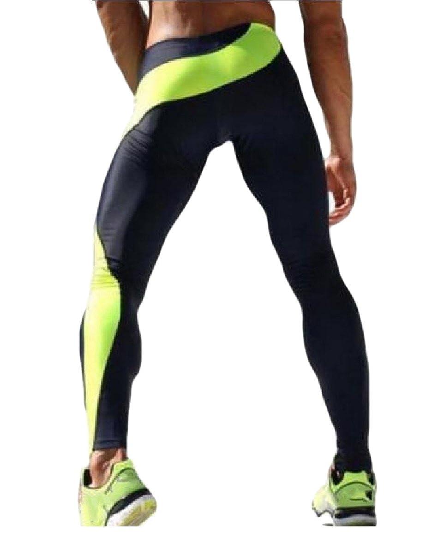 Comfy-Men for Fitness Bodysuit Sports Gym Quick Dry Activewear Pants