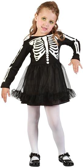 Bristol Novelty CC040 esqueleto niña para vestido, Blanco, XS ...