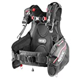 SEAC Ego Scuba Diving BCD (Black/Red, X-Small)