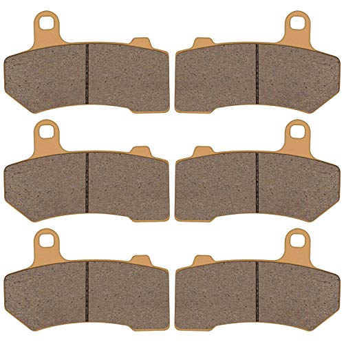 2015 Harley Davidson Flhx - Zinger Brake Pad for Harley Davidson VRSCA/VRSCB/Touring Series,2Front +1Rear Replacement Double-H Sintered Brake Pads,Fits 2008-2015Harley Davidson FLHX Street Glide+2008-2018FLHRC Road King Classic