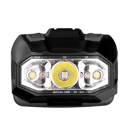 Revtronic Ultra Bright LED Headlamp Flashlight with Spot,Flood and Red Lights, Best (6 Left Hand Super Switch)