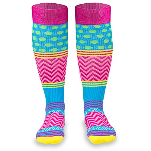 Crazy for Color Compression Socks |Athletic Knee Socks by Gone For a Run |Medium