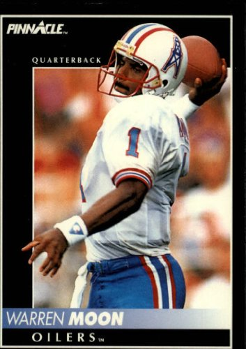 1992 Pinnacle Football Card #51 Warren Moon (Warren Moon Football)