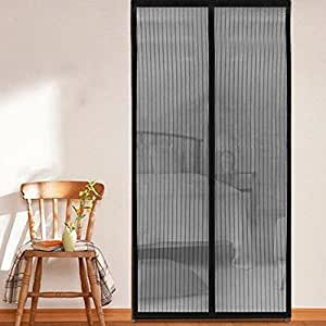 Homee magnetic mesh screen door for french doors garage for Indoor outdoor french doors