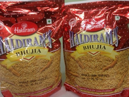 Set of 2 Haldiram's Bhujia, Savory Spiced Beans & Gram Flour Noodles - 35.30oz, 1kg by - 1 Beans Kg