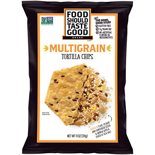 Whole Grain Tortilla Chips - Food Should Taste Good, Tortilla Chips, Multigrain, Gluten Free Chips, 11 oz
