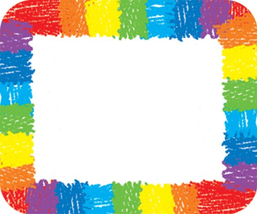 Carson Adhesive Self (Carson Dellosa Rainbow Name Tags (9476))