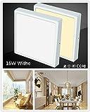 Fashionwu 85-265V Thin LED Panel Night Light Eye Protection Light Ultrathin Square LED Panel Light Anti-Mist Ceiling Lamp