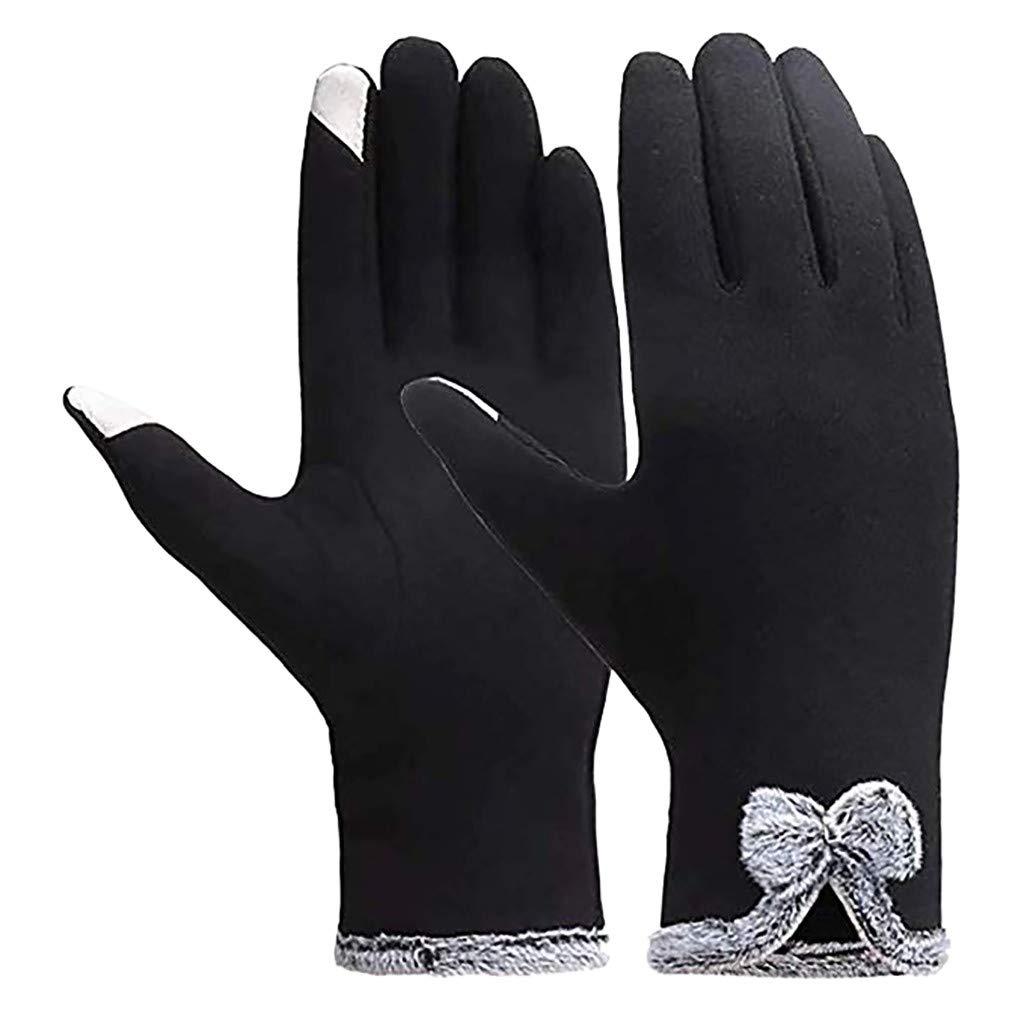 Adult Winter Warm Waterproof Windproof Snow Silde Screen Ski Full Finger Gloves
