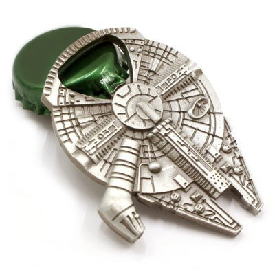 Star Wars Millenium Falcon Metal Bottle Opener - New!