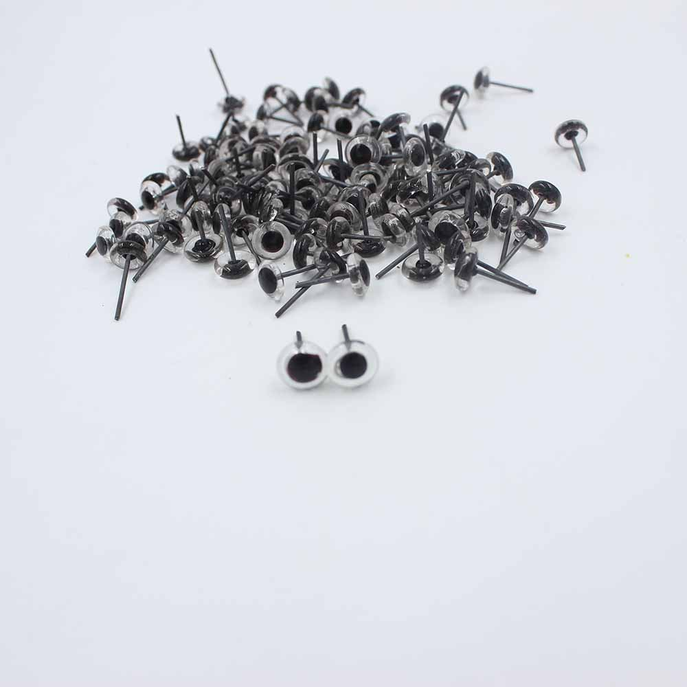 100pcs 3//4//5//6//7//8//9//10//12//14mm Glass Eyes on Wire Amber Toy Teddy Eyes Puppets Dolls Crafts 3mm, Blue