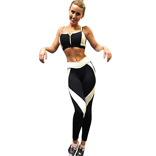7b74d67a06e2 Gillberry Women Sports Yoga Workout Gym Fitness Pants Jumpsuit Athletic  Leggings (S