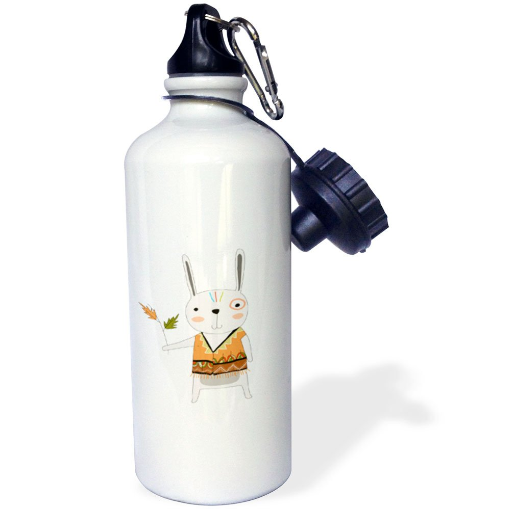3dRose wb/_254870/_1 Cute Dark Haired Mermaid Water Bottle