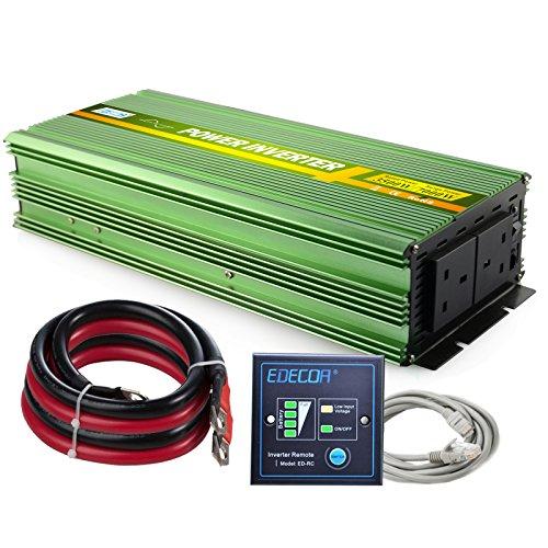 EDECOA Pure Sine Wave Power Inverter 3500W DC 12V to AC 240V With Remote...