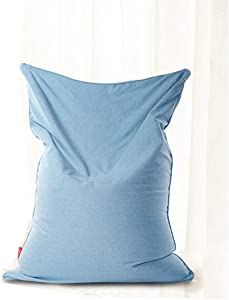 Bean Bag Chair, Memory Foam Furniture Big Sofa with Soft Cover, Alternative Seating for Classrooms Daycares Libraries Home, 39.3755.11 inches,LightBlue