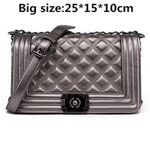 ANANXILA Diamond Lattice Women Bag Handbags Chain Women Messenger Bag Line Champagn
