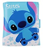 Blue Lilo and Stitch Stars Magnetic Close Wallet